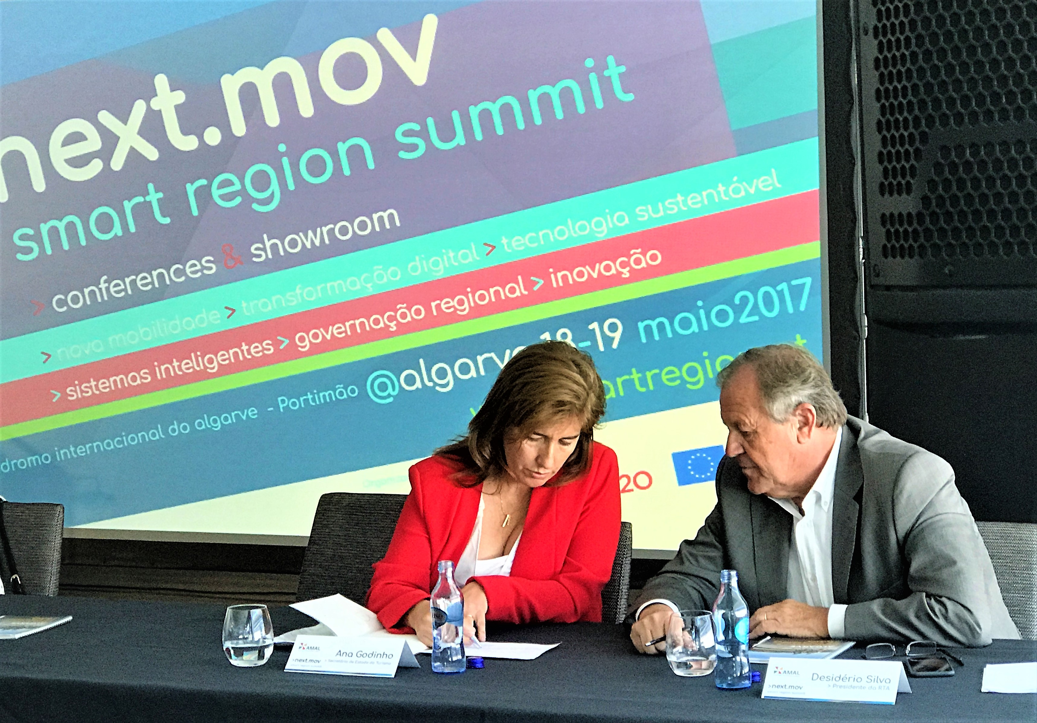 Smart Region Summit 2017 der Algarve mit Tourismus-Staatssekretärin Godinho und RTA-Verbandspräsident Silva