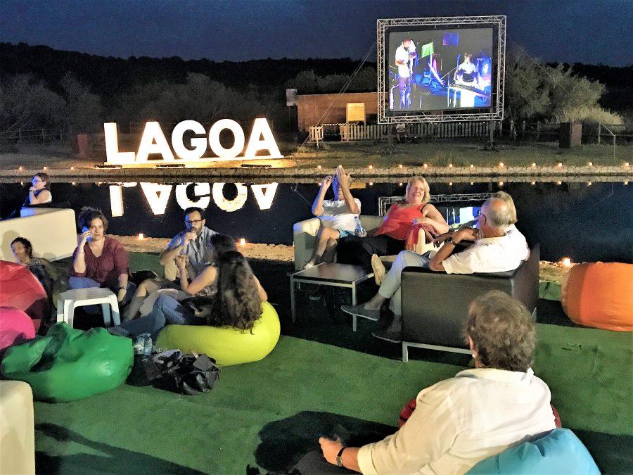 Zuhörer des Lagoa Jazz Fest 2017 im Sitio das Fontes von Estombar