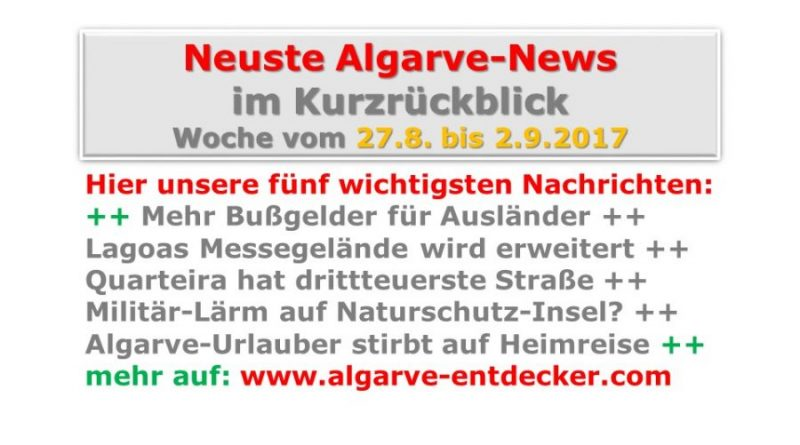 Algarve-News für die KW 35 vom 27. August bis 2. September 2017