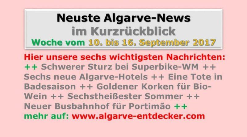 Algarve-News für die KW 37 vom 10. bis 16. September 2017