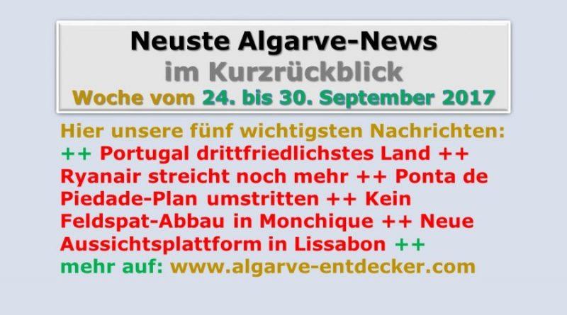 Algarve-News für die KW 39 vom 24. bis 30. September 2017