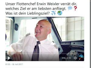Faro anzufliegen ist für Eurowings-Flottenchef Erwin Weixler ein Vergnügen