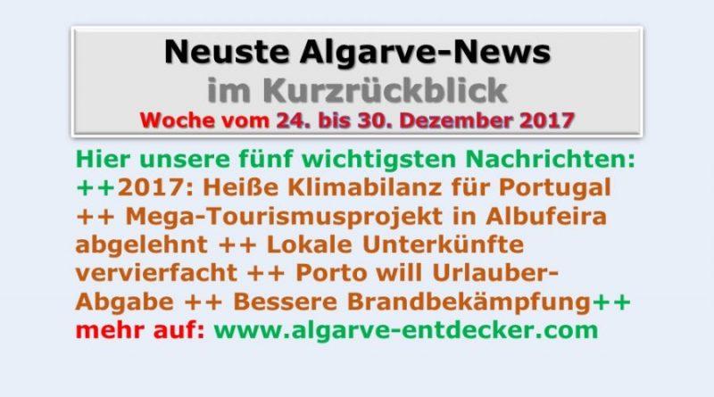 Algarve-News für KW 52 vom 24. bis 30. Dezember 2017