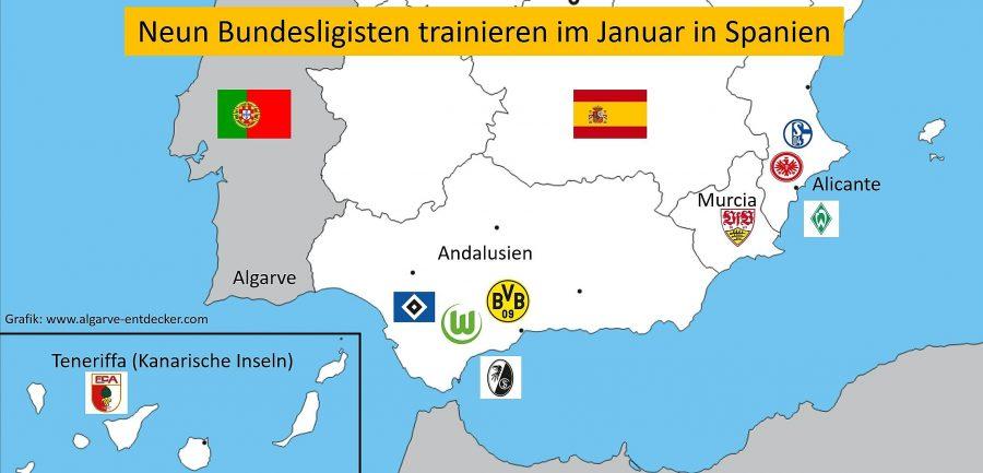 Die Bundesliga bevorzugt im Winter 2018 Trainingslager in Spanien