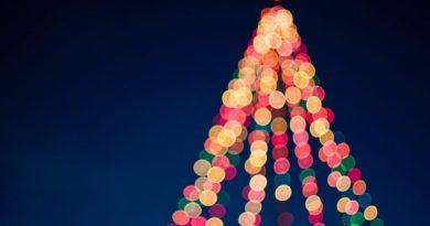 Weihnachten 2017 an der Algarve mit festlichem Lichterschmuck