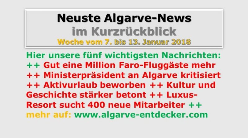 Algarve-News KW 2 vom 7. bis 13. Januar 2018