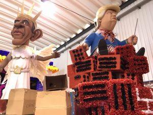Merkel und Trump Figuren im Algarve-Karneval 2018
