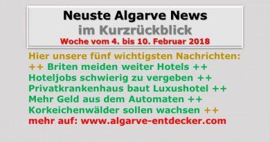 Algarve News für KW 6 vom 4. bis 10. Februar 2018