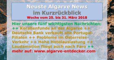 Algarve News für KW 13 vom 25. bis 31. März 2018