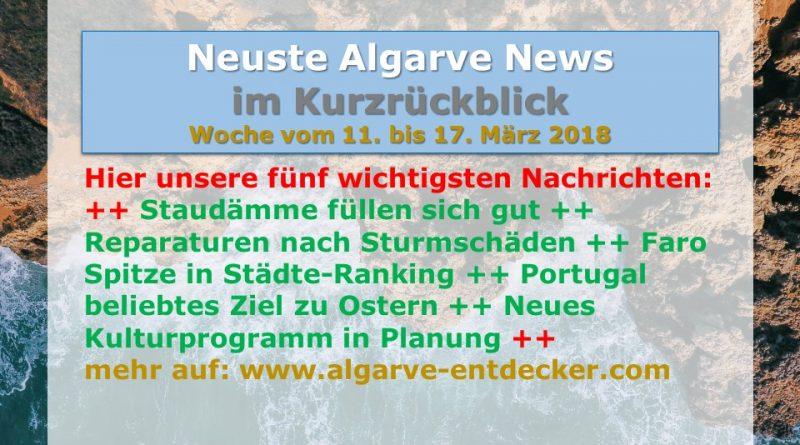 Algarve News für KW 11 vom 11. bis 17. März 2018