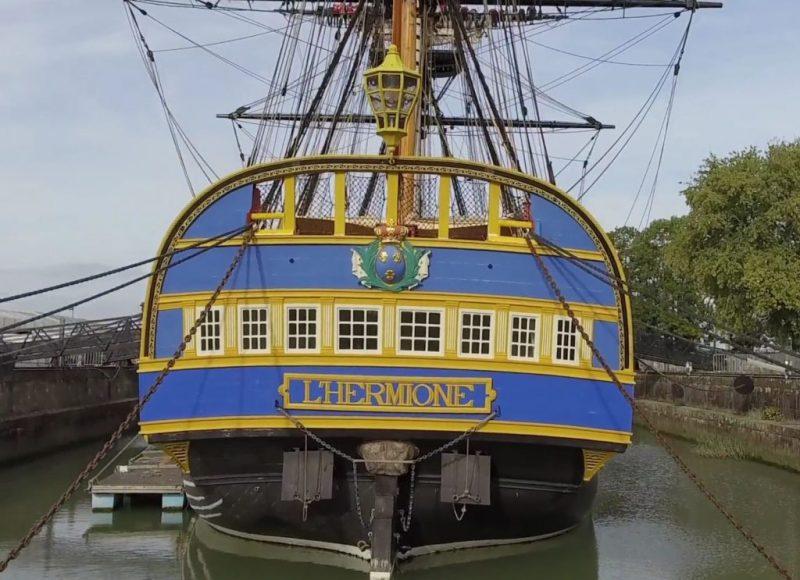 Hermione ist der Nachbau eines historischen Fregatten-Vorbilds aus Frankreich