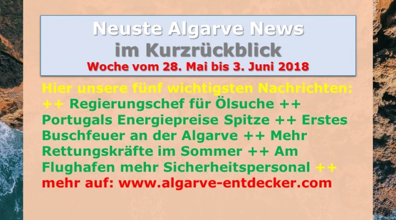 Algarve News für KW 22 vom 28. Mai bis 3. Juni 2018