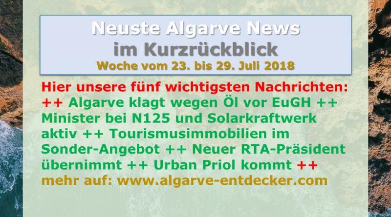 Algarve News aus KW 30 vom 23. bis 29. Juli 2018