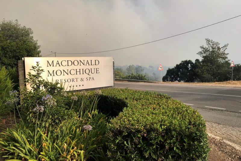 Algarve-Hotel mit fünf Sternen in Monchique vom Waldbrand gefährdet