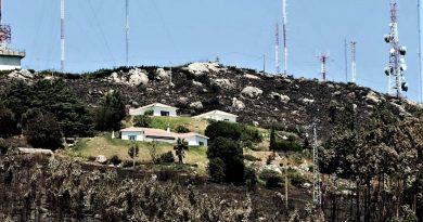 Flammen fraßen sich an höchste Erhebung der Algarve heran: Berg Foia mit Antennen