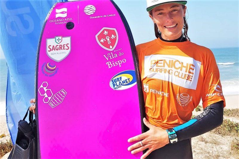 Algarve News über portugiesische Bodyboard-Meisterin Joana Schenker, eine Deutsche