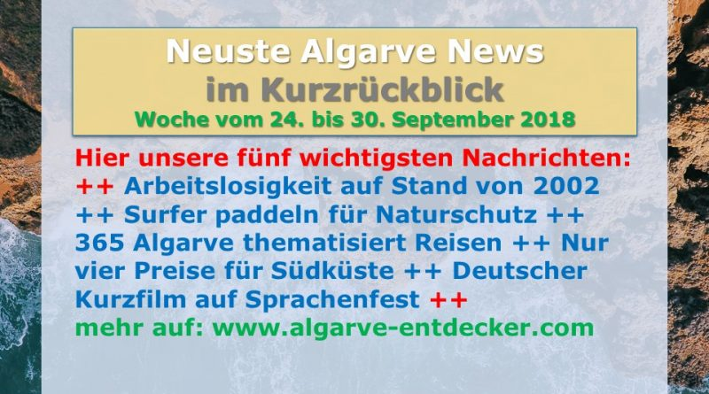 Algarve News aus KW 39 vom 24. bis 30. September 2018
