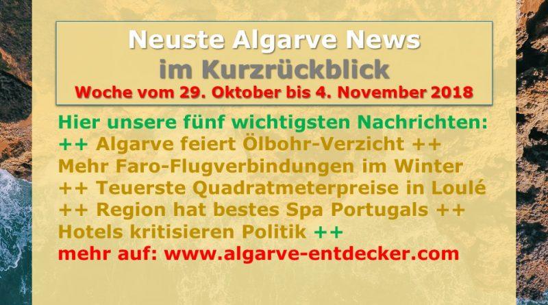 Algarve News aus KW 44 vom 29. Oktober bis 4. November 2018