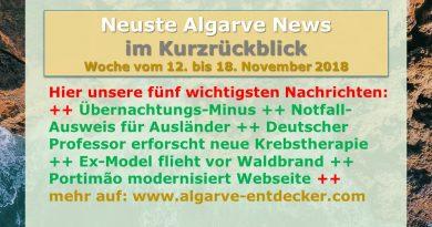 Algarve News aus KW 46 vom 12. bis 18. November 2018