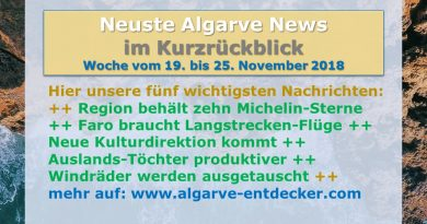 Algarve News aus KW 47 bom 19. bis 25. November 2018