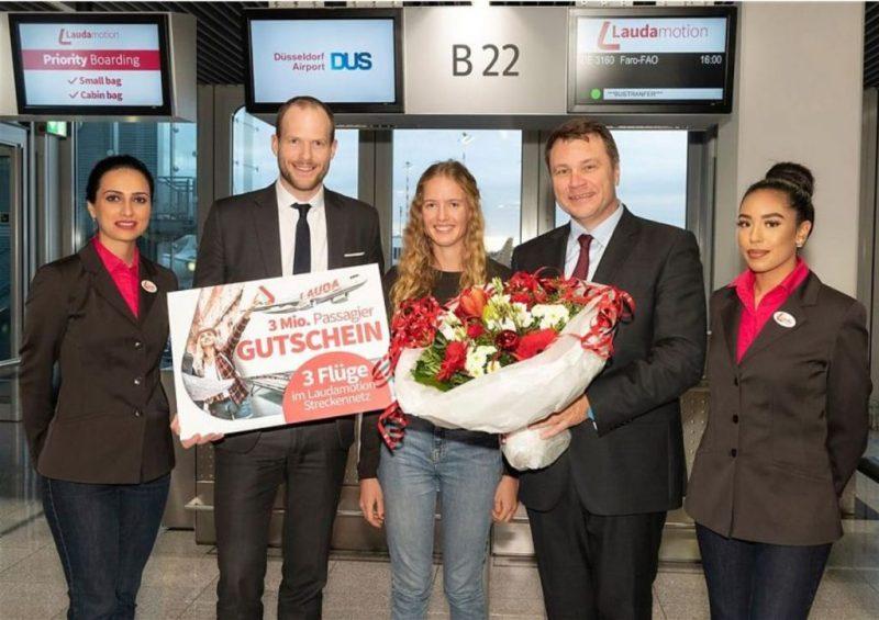 Algarve News über dreimillionsten Passagier von Laudamotion
