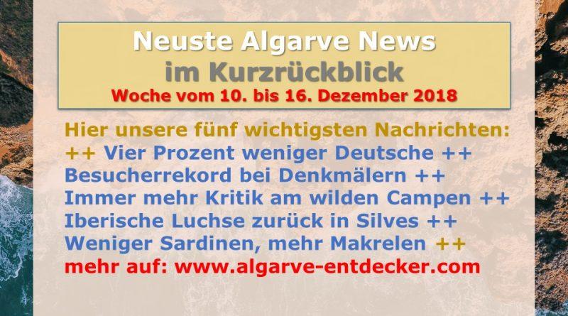 Algarve News aus KW 50 vom 10. bis 16. Dezember 2018