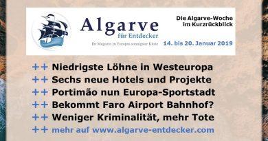 Algarve News aus KW 3 vom 14. bis 20. Januar 2019