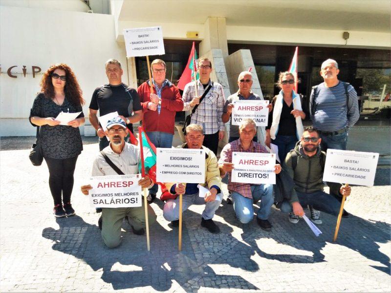 Algarve News zu Gewerkschaftsprotest vor Rathaus Albufeira