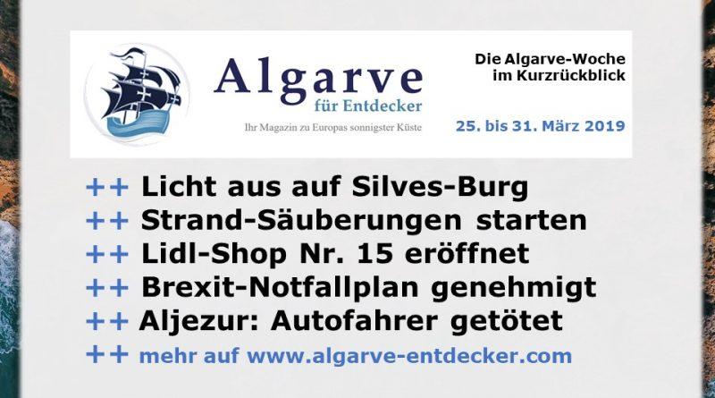 Algarve News und Portugal News aus KW 13 vom 25. bis 31. März 2019