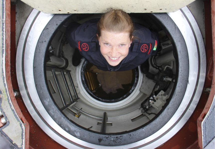 Jagd-U-Boot Portugals im Mittelmeer hat erstmals eine Frau an Bord