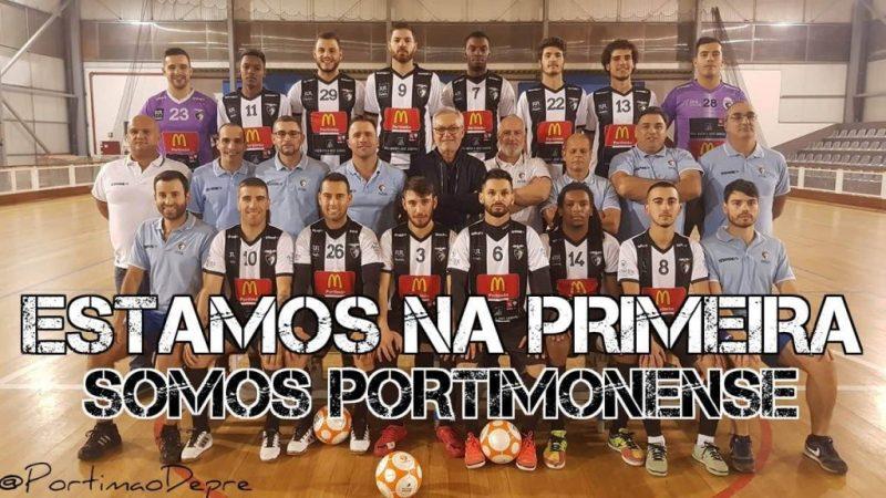 Algarve News über Aufstieg der Hallenfußballer des Portimonense SC in die erste Liga