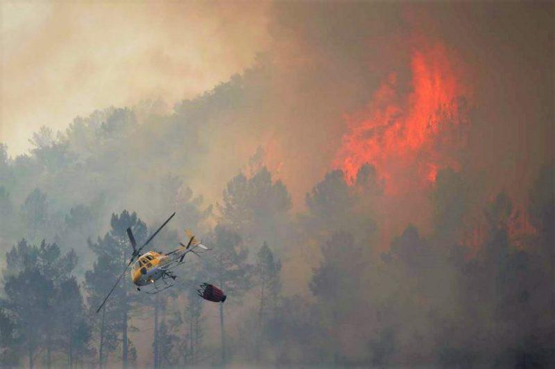 Monchique-Waldbrand stellt Frage nach Verfügbarkeit von Lösch-Hubschraubern