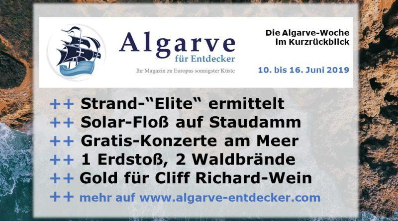 Algarve News und Portugal News aus KW 24 vom 10. bis 16. Juni 2019