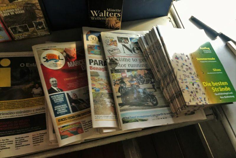 Medienmarkt der Algarve erlebt Schattendasein ausländischer Printmagazine