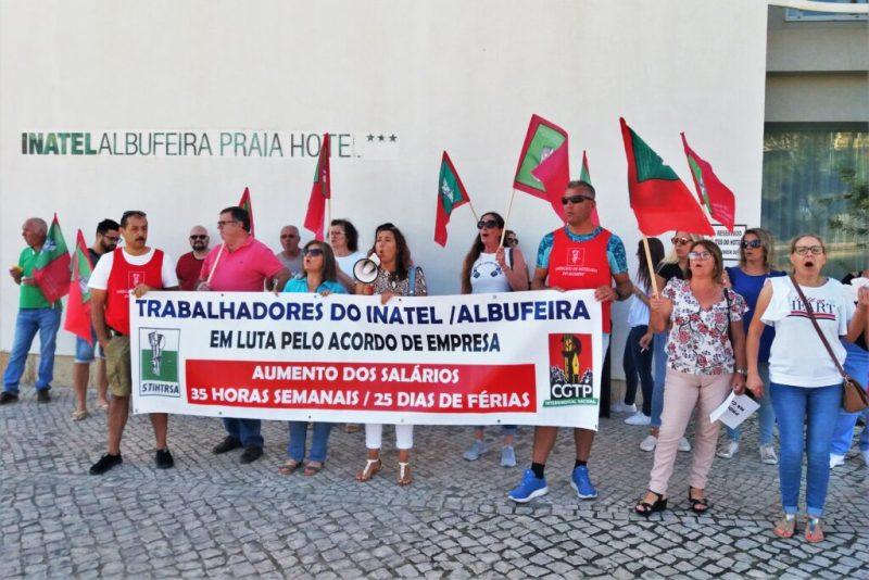 Algarve News über Hotelstreik gegen INATEL an der Algarve in Albufeira