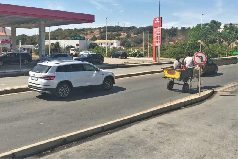 Portugal-Verkehr durch streikbedingte Engpässe behindert aber nicht bei Pferdefuhrwerken