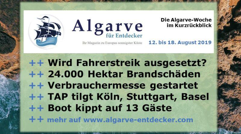 Algarve News und Portugal News aus KW 33 vom 12. bis 18. August 2019