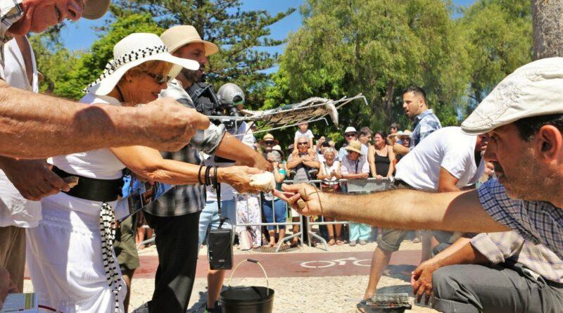 Anlieferung der Sardinen zum Festival 2019 in Portimao an der Algarve