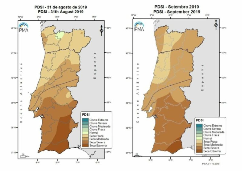 Algarve News zu Trockenheit in Portugal Ende August und Ende September 2019