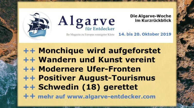 Algare News und Portugal News aus KW 42 vom 14. bis 20. Oktober 2019
