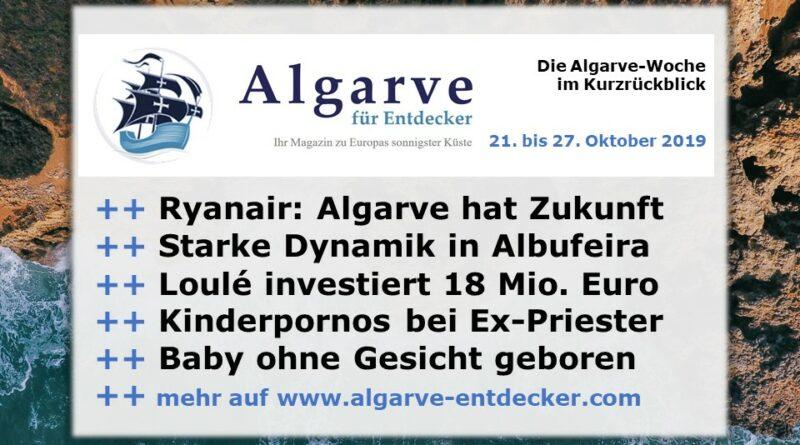 Algarve News und Portugal News aus KW 43 vom 21. bis 27. Oktober 2019