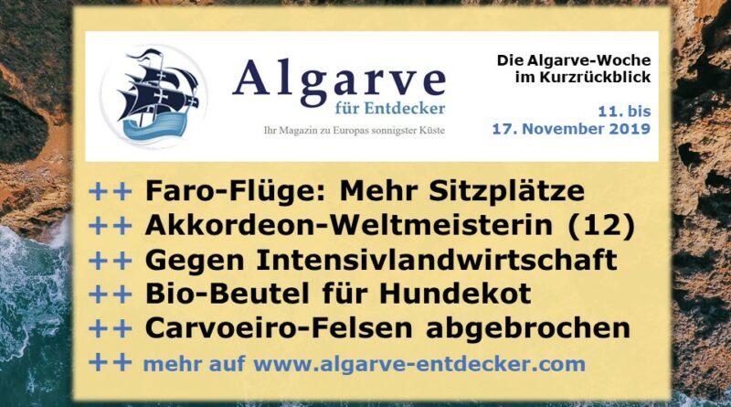 Algarve News und Portugal News aus KW 46 vom 11. bis 17. November 2019