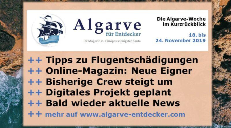 Algarve News und Portugal News aus KW 47 vom 18. bis 24. November 2019
