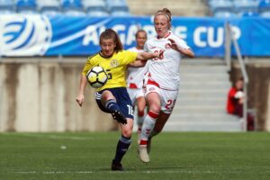 Spielszene Frauenfußball
