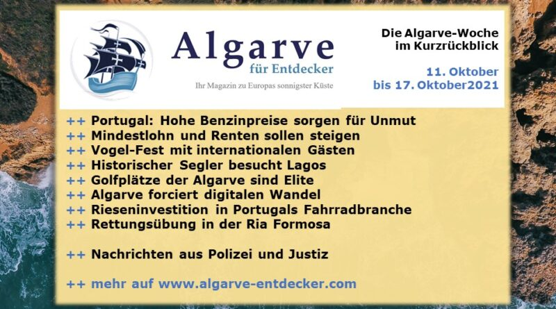 Algarve News: 11. bis 17. Oktober 2021